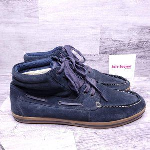 ALDO Suede Mid Top Lace Up Boot Blue 12